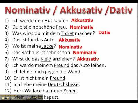 determining cases with nominative accusative and dative - www.germanforspalding.org