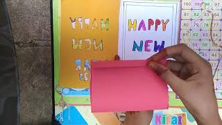 How to make Happy New Year 2020 Greeting card ART WISDOM