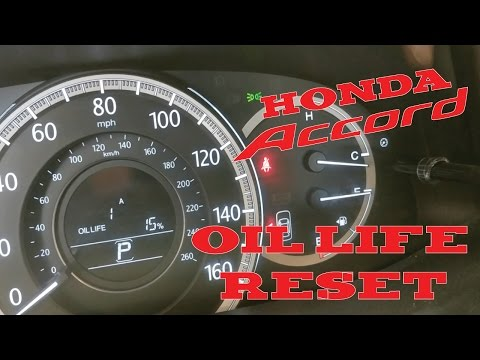 2012 - 2016 Honda Accord Oil Life Reset