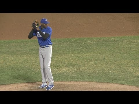 Tracy McGrady Pitches Against Bridgeport Bluefish