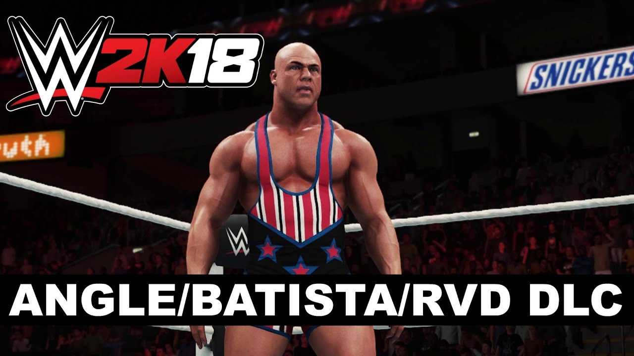 WWE 2K18 Kurt Angle, Batista and Rob Van Dam DLC Available Today