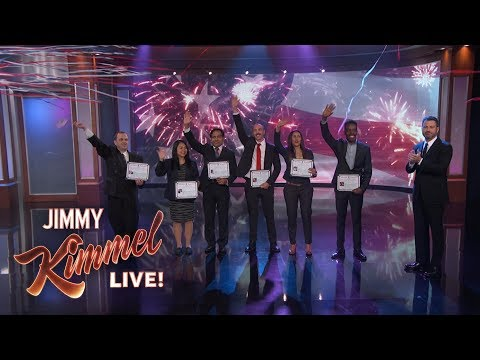 Jimmy Kimmel Welcomes Immigrants to America