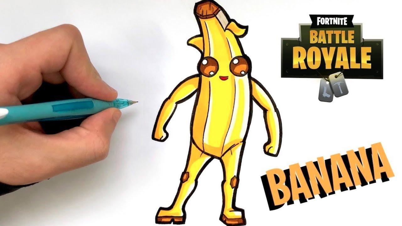 zeichnen fortnite ausmalbilder bananen skin  kostenlose