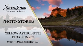 """""""Yellow Aster Butte Pink Sunset"""" - Landscape Photography Stories"""