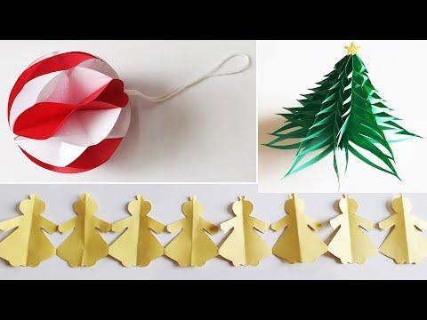 3 DIY Paper Craft ideas for Christmas || Xmas Decoration ideas