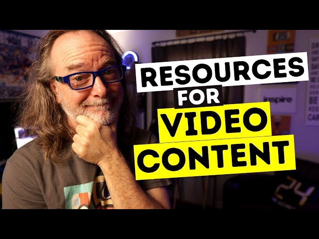 Resources To Help YOU Create Video Content For YOUR YouTube Channel - Free and Paid