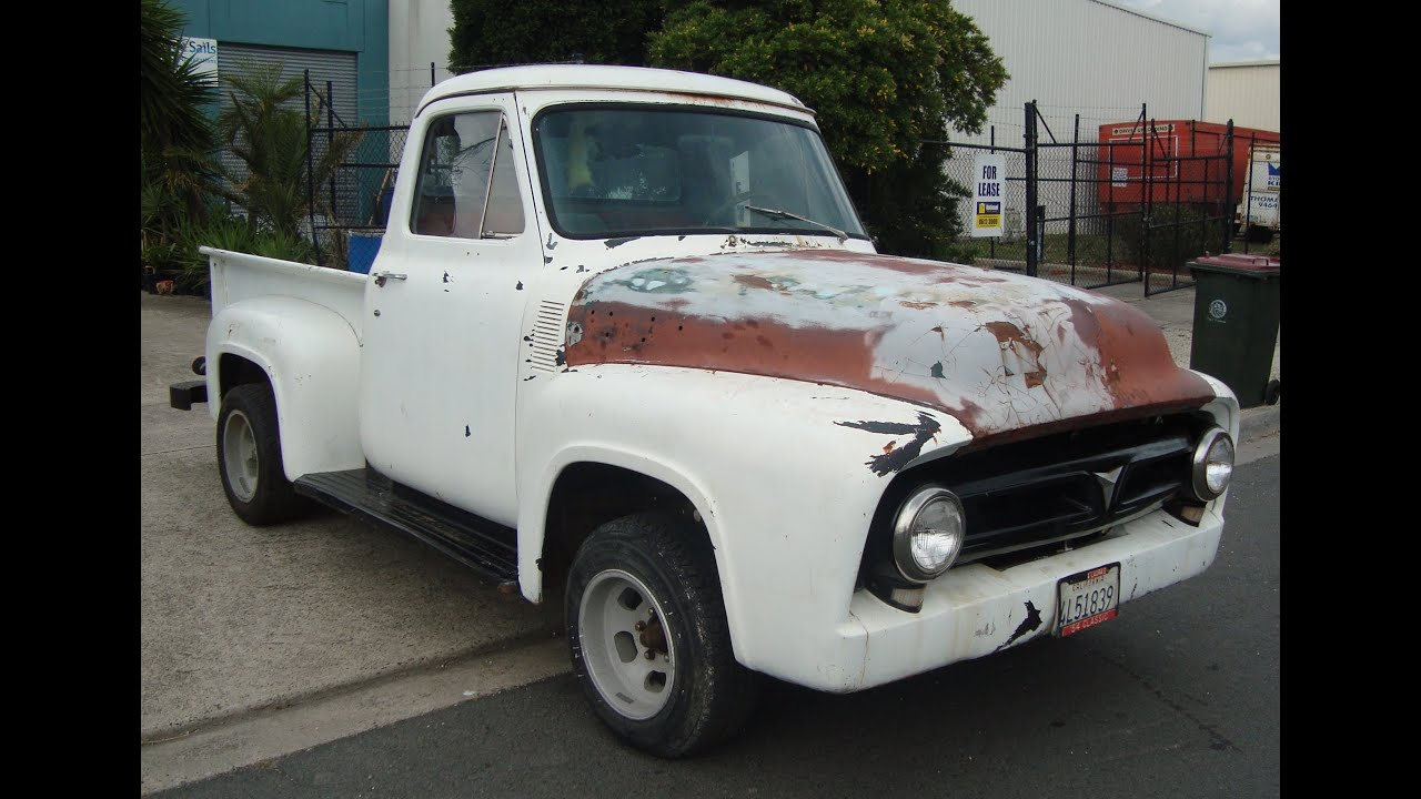1954 Ford F100 1953 1955 1956 V8 Auto Pick Up Truck For Sale - YouTube