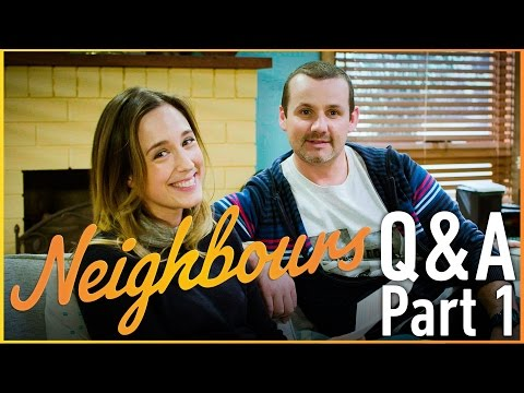 Ryan Moloney (Toadie Rebecchi) and Eve Morey (Sonya Rebecchi) - Neighbours Q&A Part 1