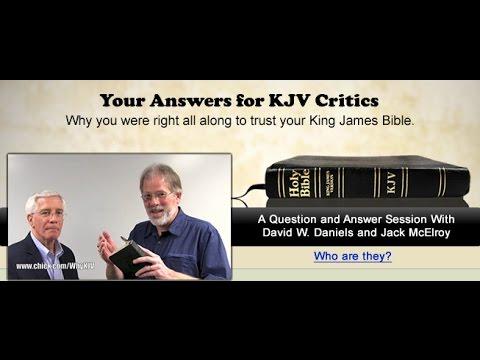 Your Answers For KJV Critics - David W. Daniels, Jack McElroy