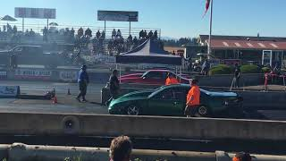Ryan Griffin Turbo Mustang and Mike Bader BBC Mustang