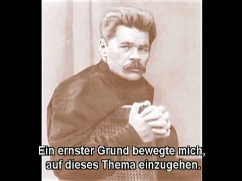 Maxim Gorki a lively Voice (English Subt) / М. Горький - живой голос. ...на съезде литераторов streaming vf