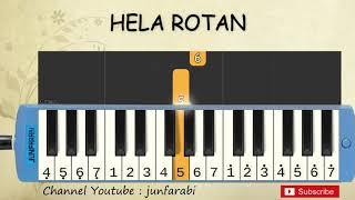 not pianika hela rotan - lagu daerah nusantara indonesia - belajar pianika not angka