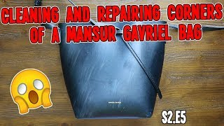 CLEANING AND REPAIRING CORNERS OF A MANSUR GAVRIEL BAG | HANDBAG REHAB S2.E5