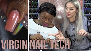 VIRGIN NAIL TECH USING DUAL FORM WITH ACRYLIC - STEP BY STEP TUTORIAL
