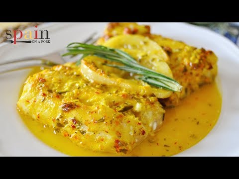 Oven Roasted Cod With Saffron & Lemon