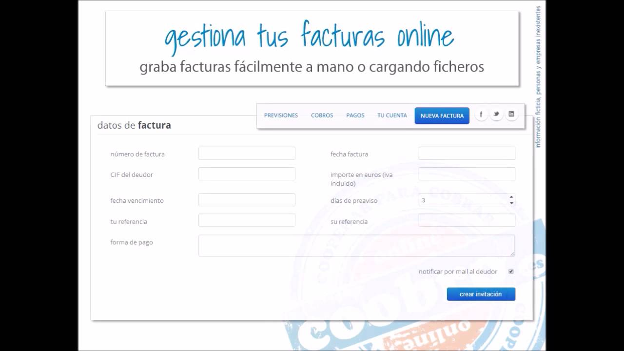 gestiona tus facturas online youtube