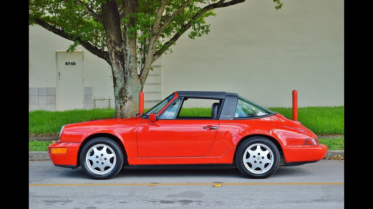 1990 Porsche 911 Targa C2 G50 964 74k Miles For Sale Call 305 988 3092