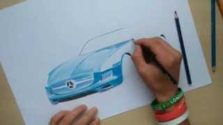 Tutorial Drawing Mercedes-Benz AMG by Tony