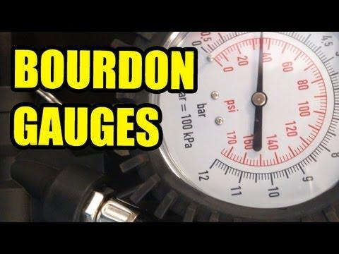 How a Bourdon pressure gauge works