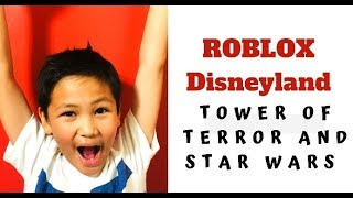 ROBLOX Disneyland Robloxia Hollywood Tower of Terror e Star Wars Rides