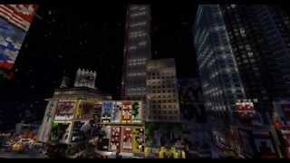 Minecraft Times Square New Year 2015