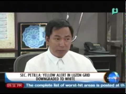 [NewsLife] Sec. Petilla: Yellow alert in Luzon grid downgraded to white