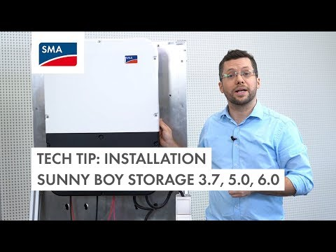 Tech Tip: How to install the Sunny Boy Storage 3.7, 5.0, 6.0?