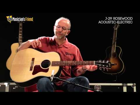 Gibson J-29 Rosewood Acoustic-Electric Guitar, demo'd by Don Ruffatto