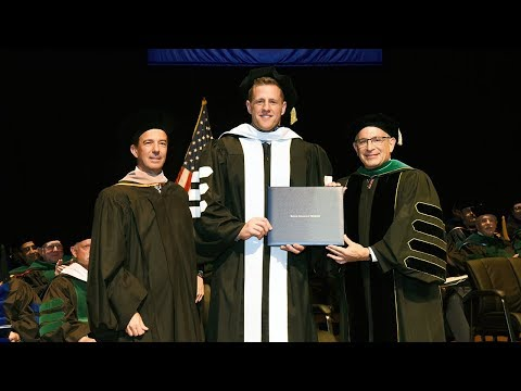 J.J. Watt Awarded Honorary Degree At 2018 Baylor College Of Medicine Commencement