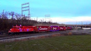 2017 CP HOLIDAY TRAIN GROUND VIEW WITH AMTAK THROWN IN HD