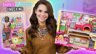 Download NEW Barbie Baker and Pizza Chef Playset Toy UNBOXING + Mini Pizza Recipe! Mp3 and Videos