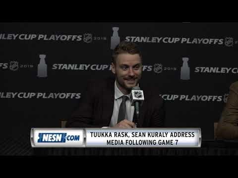 Tuukka Rask, Sean Kuraly Game 7 Bruins Vs. Maple Leafs Press Conference