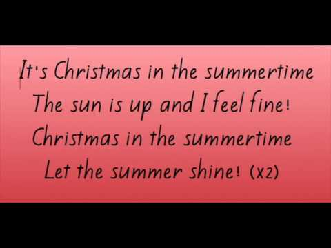 Christmas in the summer time lyrics