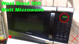 how to use west bend 900 watt microwave review