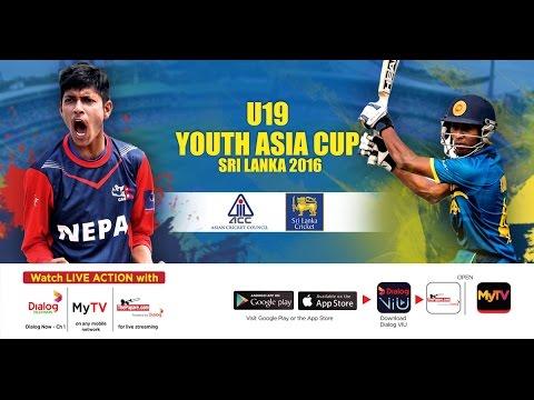 Sri Lanka vs Nepal – U19 Youth Asia Cup Sri Lanka 2016