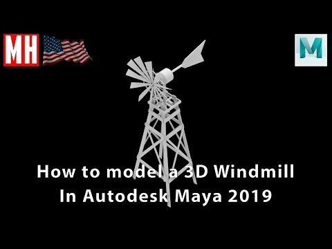 How To Model A 3D American Windmill In Maya 2019 ( Full Tutorial )