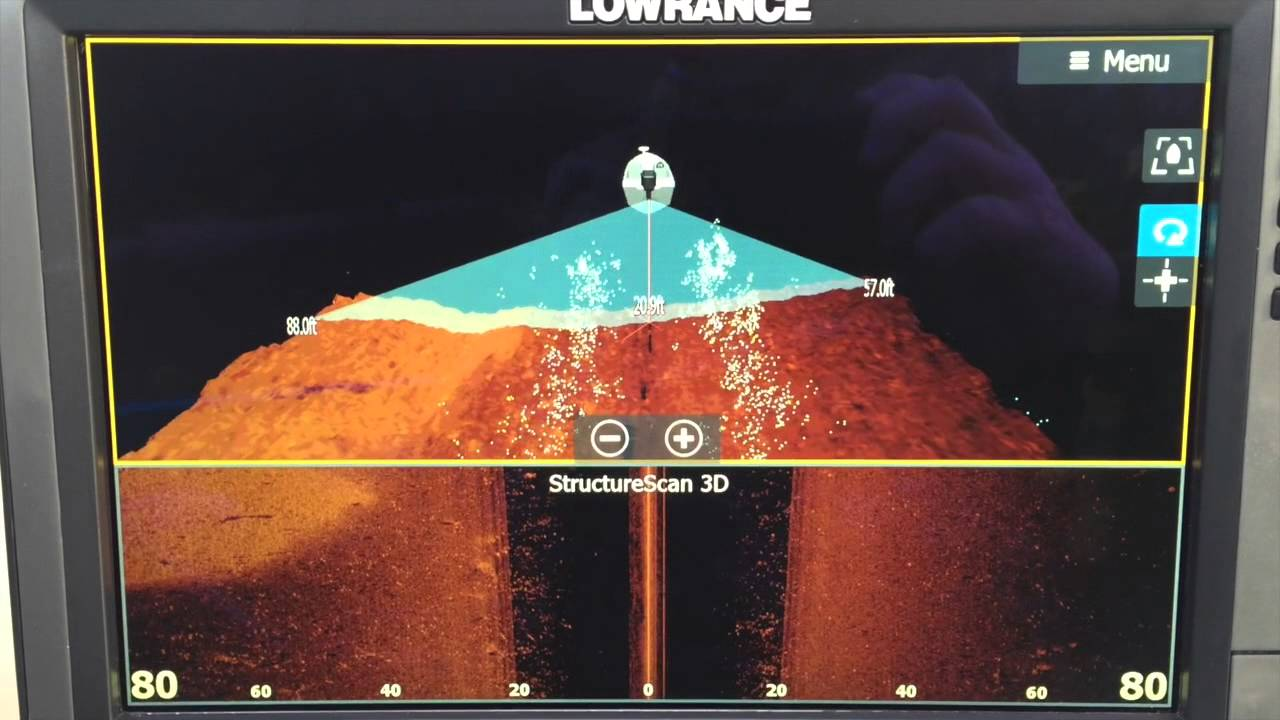 Quick video of Lowrance Structure Scan 3D in acton