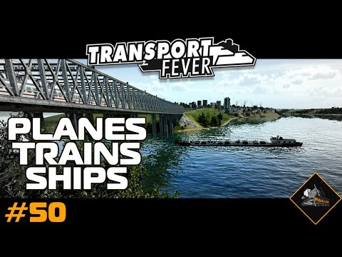 Planes, Trains, Ships | Transport Fever Gameplay North Atlantic custom map #50