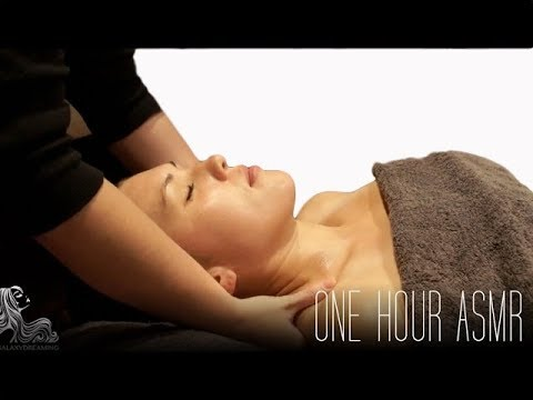 One Hour ASMR Facial Massage With Whispering