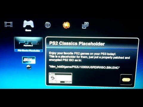 Запуск PS2 игр на PS3 на CFW 4.xx