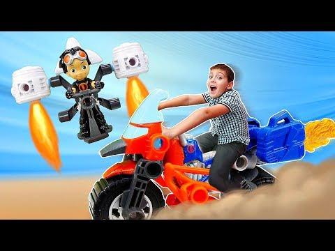 Гонки на машинах: Скоростной мотоцикл для Расти Механика - Игры для мальчиков