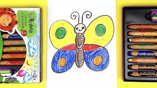 Как нарисовать БАБОЧКУ / Рисунки в Детский сад / урок рисования