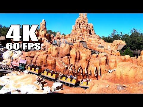 4K 60 FPS Big Thunder Mountain Roller Coaster Walt Disney World Magic Kingdom Onride GoPro Hero 6