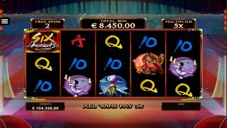 BIG WIN On Six Acrobats Slot Machine From Microgaming
