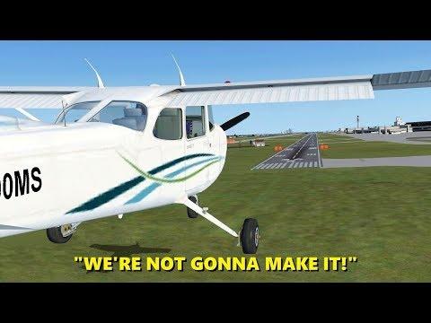 Landing with an ENGINE FAILURE! Flight Simulator X (Multiplayer)
