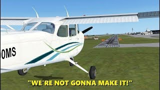 Landing with an ENGINE FAILURE! Flight Simulator X (Multiplayer)