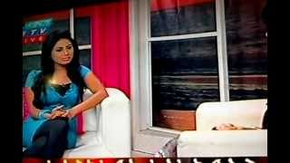 Alisha pradhan interveiw in a blue sexy dress(bangla hot model)