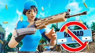 Winning without RELOADING challenge in Fortnite...