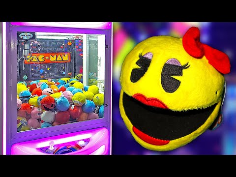 Big Wins At The PAC MAN Claw Machine!