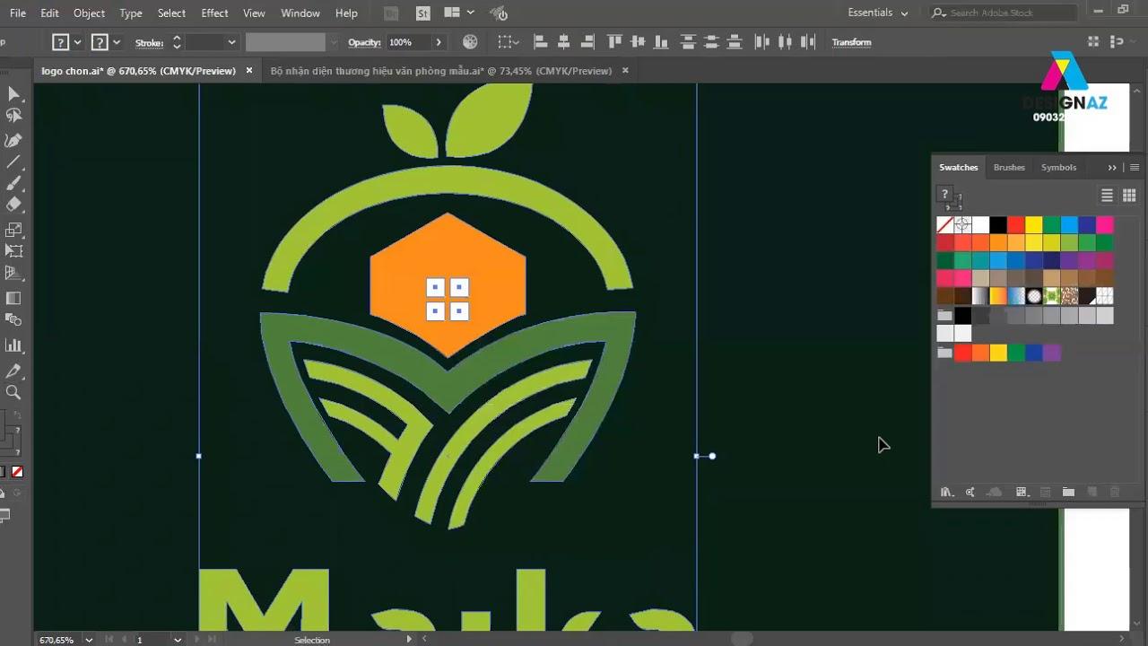 Cách dàn bộ logo nhận diện thương hiệu cho khách hàng phần 2